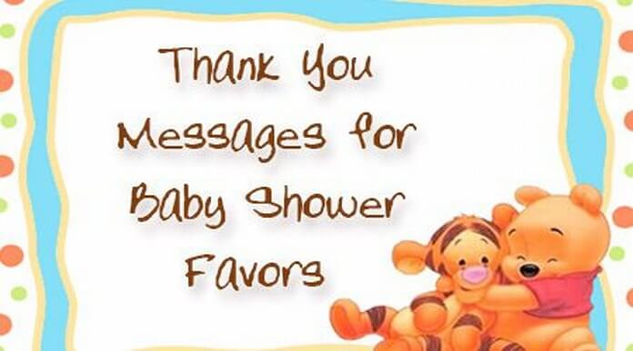 Thank You Messages for Baby Shower Favors