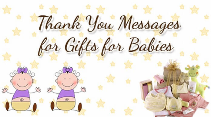Thank You Messages for Gifts for Babies