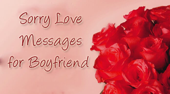 Sorry Love Messages for Boyfriend