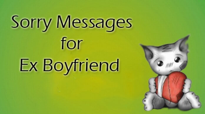 ex boyfriend Sorry messages