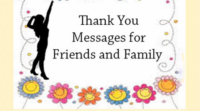 Thank You Messages for Friends and Family