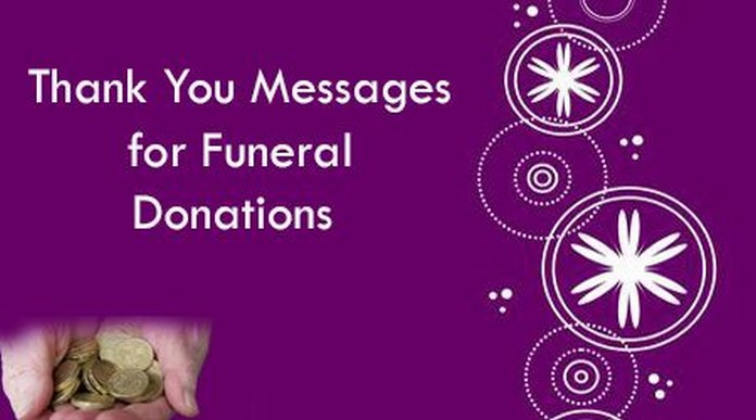 Thank You Messages for Funeral Donations