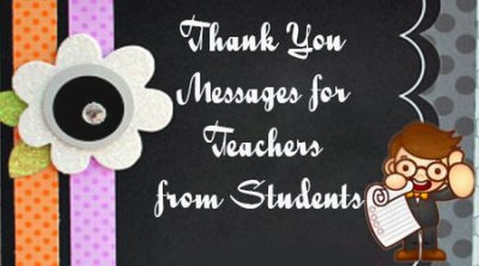 Thank You Messages for Teachers from Students