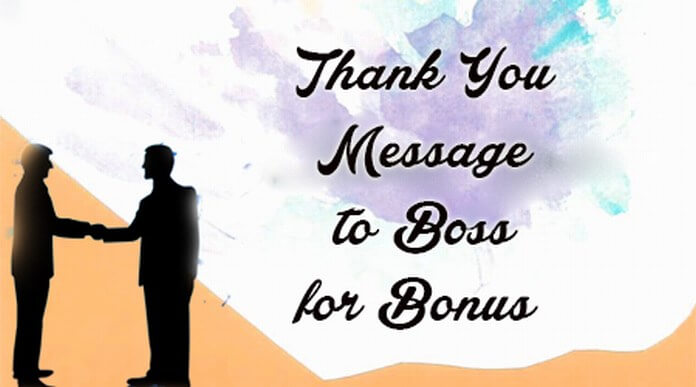 Thank You Message to Boss for Bonus