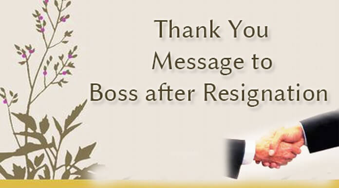 Thank You Message to Boss after Resignation
