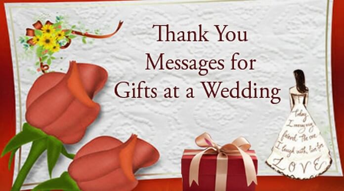 Thank You Messages for Gifts at a Wedding