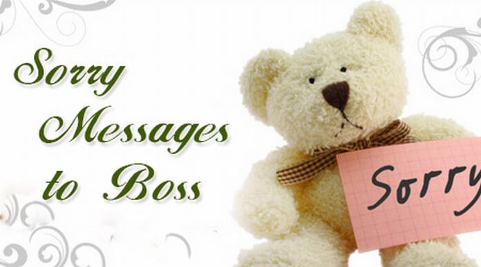 Sorry Text messages to boss