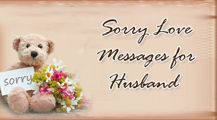 husband sorry love messages