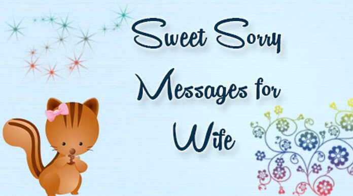 sweet sorry messages wife