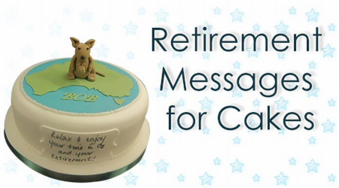 Retirement Messages for Cakes