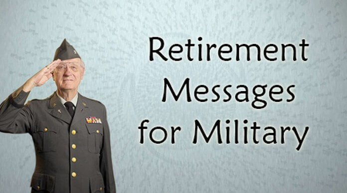 Retirement Messages for Military