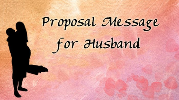 Proposal Message for Husband