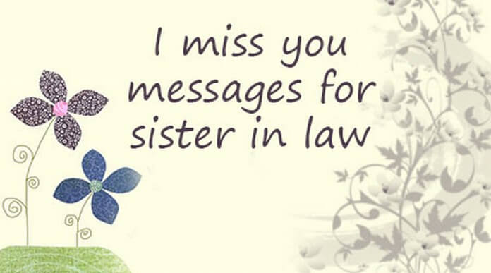 I Miss You Messages For Sister In Law