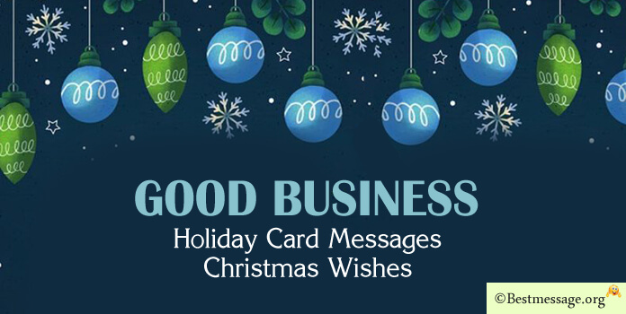 Business Christmas Card Messages - Wishes, Greetings Image
