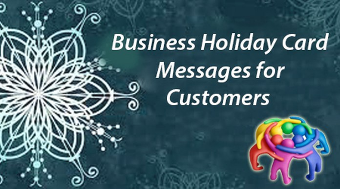 customers Business holiday card messages