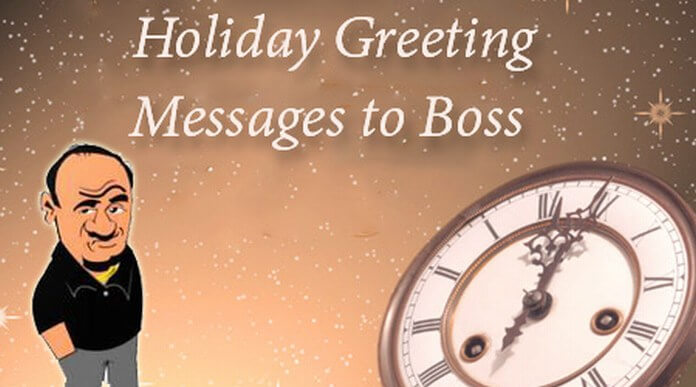 holiday greeting wishes for boss