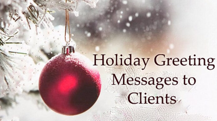Holiday greeting messages to clients