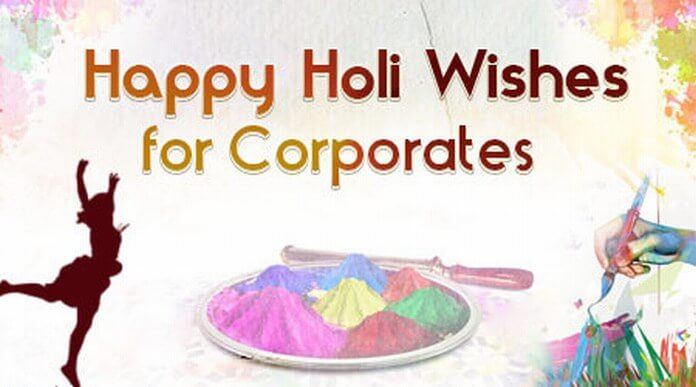 Holi corporate wishes message