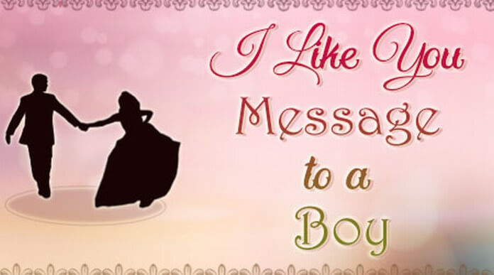 I like you Message to a Boy