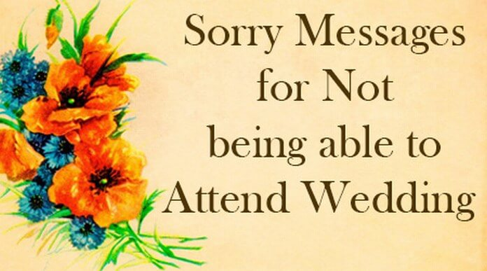Sorry messages for not being able to attend wedding sorry messages for not attending wedding m4hsunfo