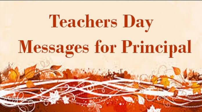 Teachers Day Messages for Principal