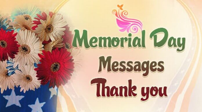 Memorial Day Thank You Message