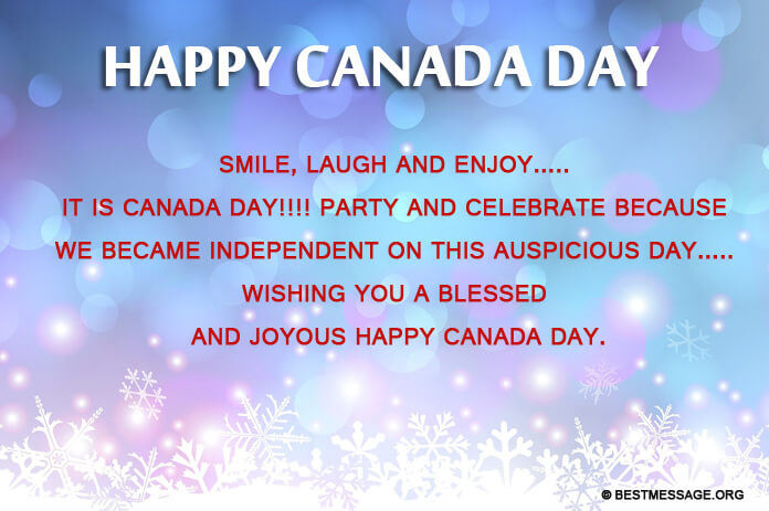 Funny Canada Day Text Messages, greeting card image