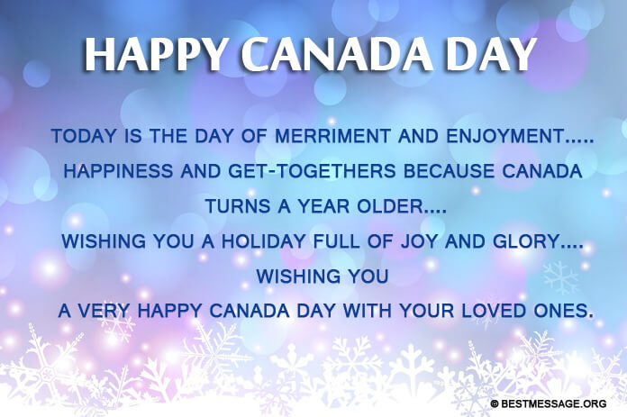 1st July Happy Canada Day Best Wishes to Friends