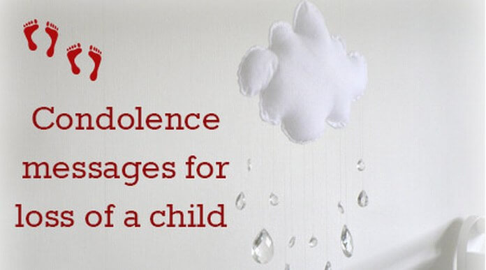 Condolence messages for loss of a child
