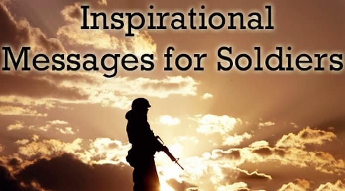 Inspirational Message for Soldiers