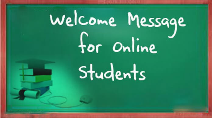 Welcome Message for Online Students