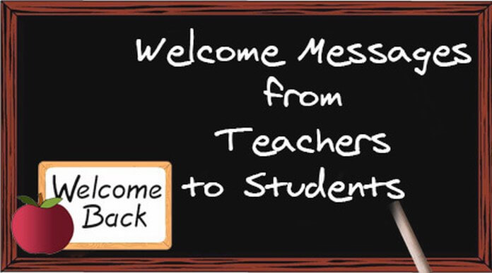 Welcome Messages from Teachers to Students