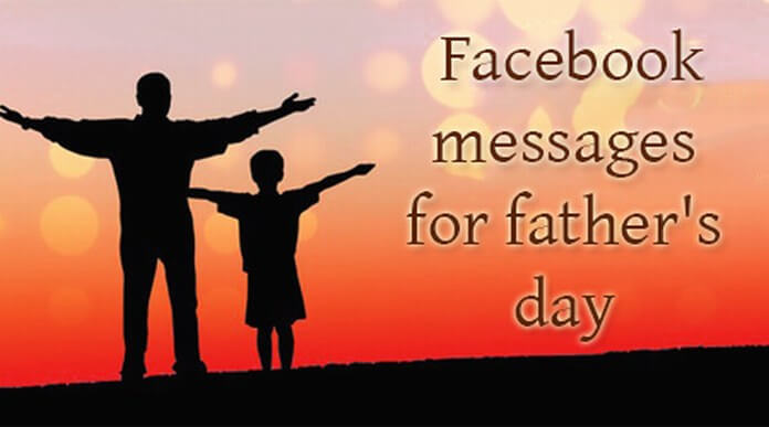 Facebook messages for father's day