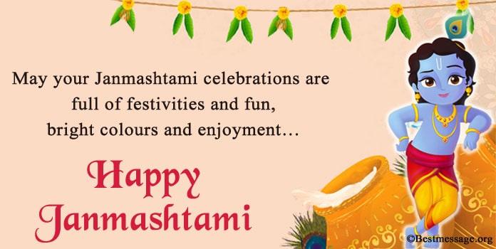 Krishna Janmashtami Messages Cute Janmashtami Wishes Quotes