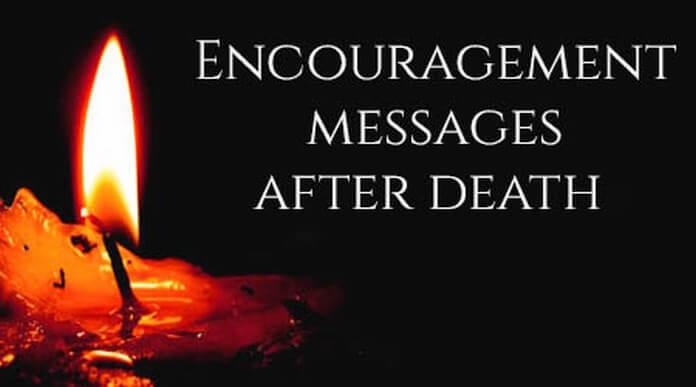 Encouragement Message After Death