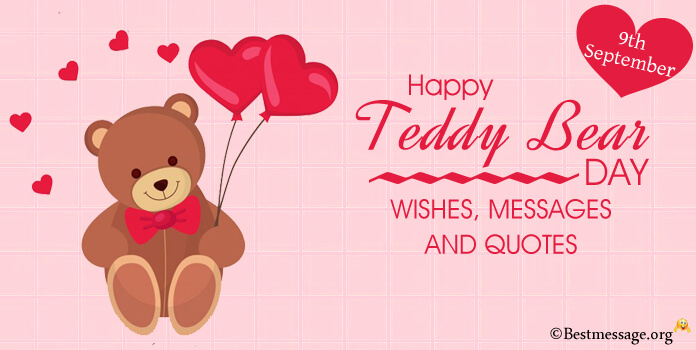 Happy Teddy Bear Day Messages, Teddy Bear Quotes, Teddy Day Wishes