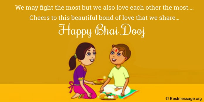 Happy Bhai Dooj Messages for Brother, Bhai Dooj Wishes Photo