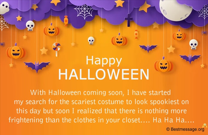 Halloween Messages, Wishes Card Messages