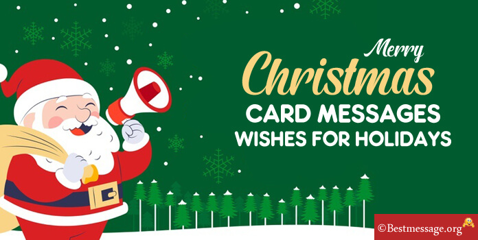 Christmas Cards messages, Christmas Holiday Card Sayings, Wishes