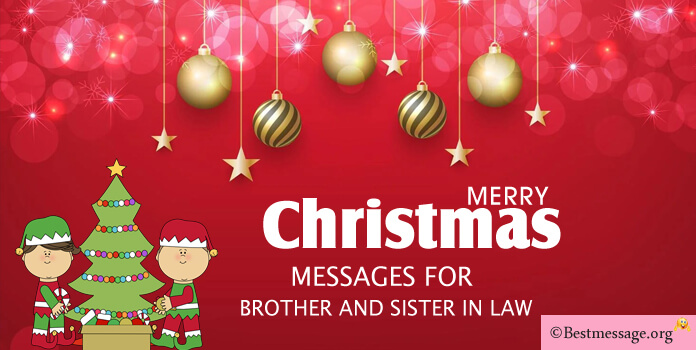 Merry Christmas Messages for Brother and Sister in Law