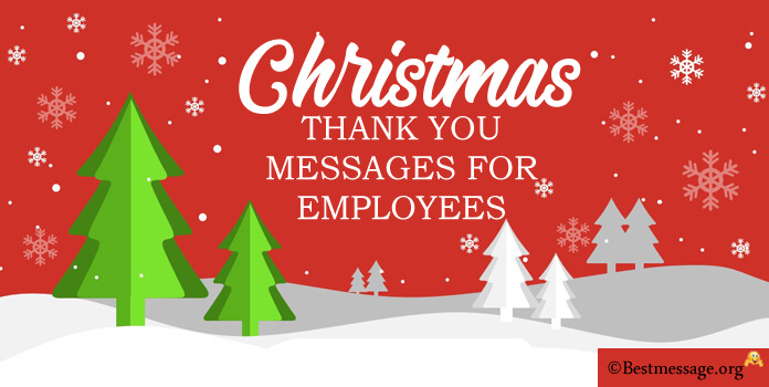 Christmas Thank You Messages for Employees