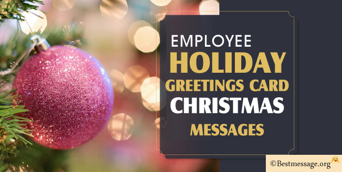 Christmas Greeting Messages for Employees