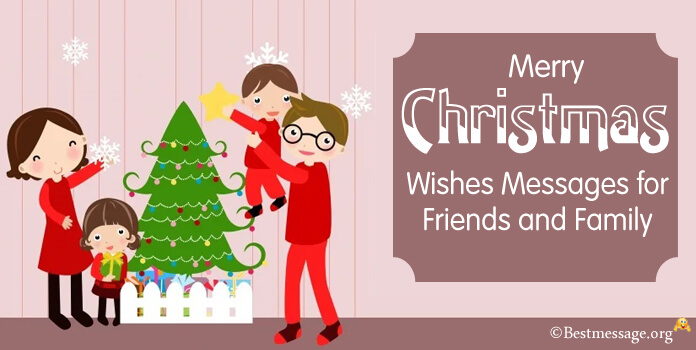 Short Merry Christmas Wishes To Friends And Family on Whatsapp