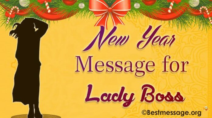 New Year message for lady boss