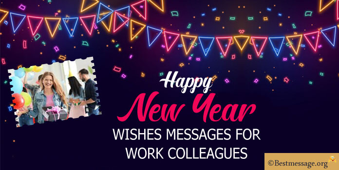 new year wishes messages to work colleagues