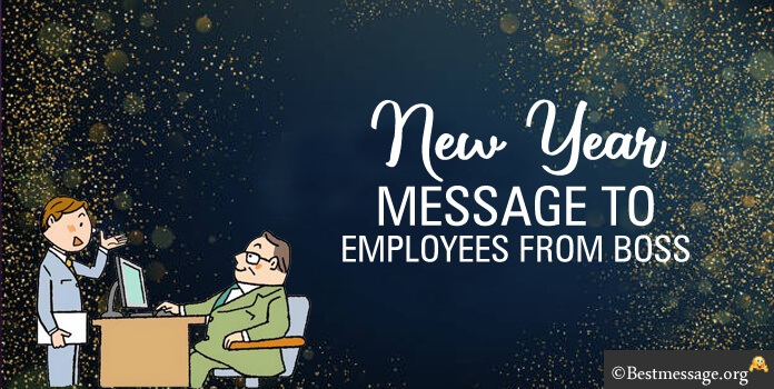 Happy New Year Message to Employees from Boss