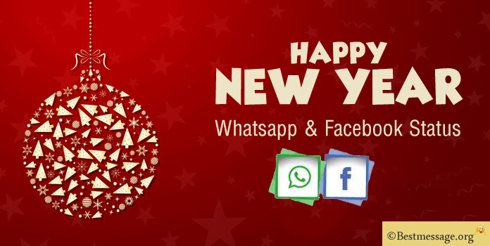 Happy New Year Status 2021, New Year Whatsapp Status, Facebook Messages