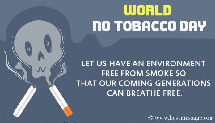 World No Tobacco Day Messages Image, photo