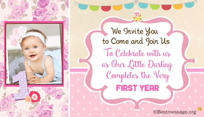 Cute 1st Birthday Invitation Wordings Ideas Kids