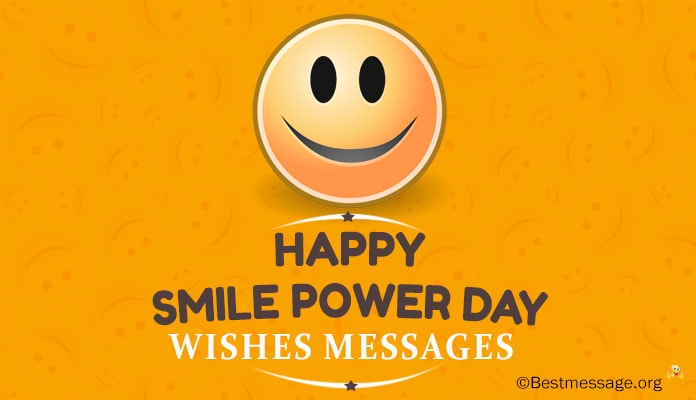National Smile Power Day Messages and Wishes